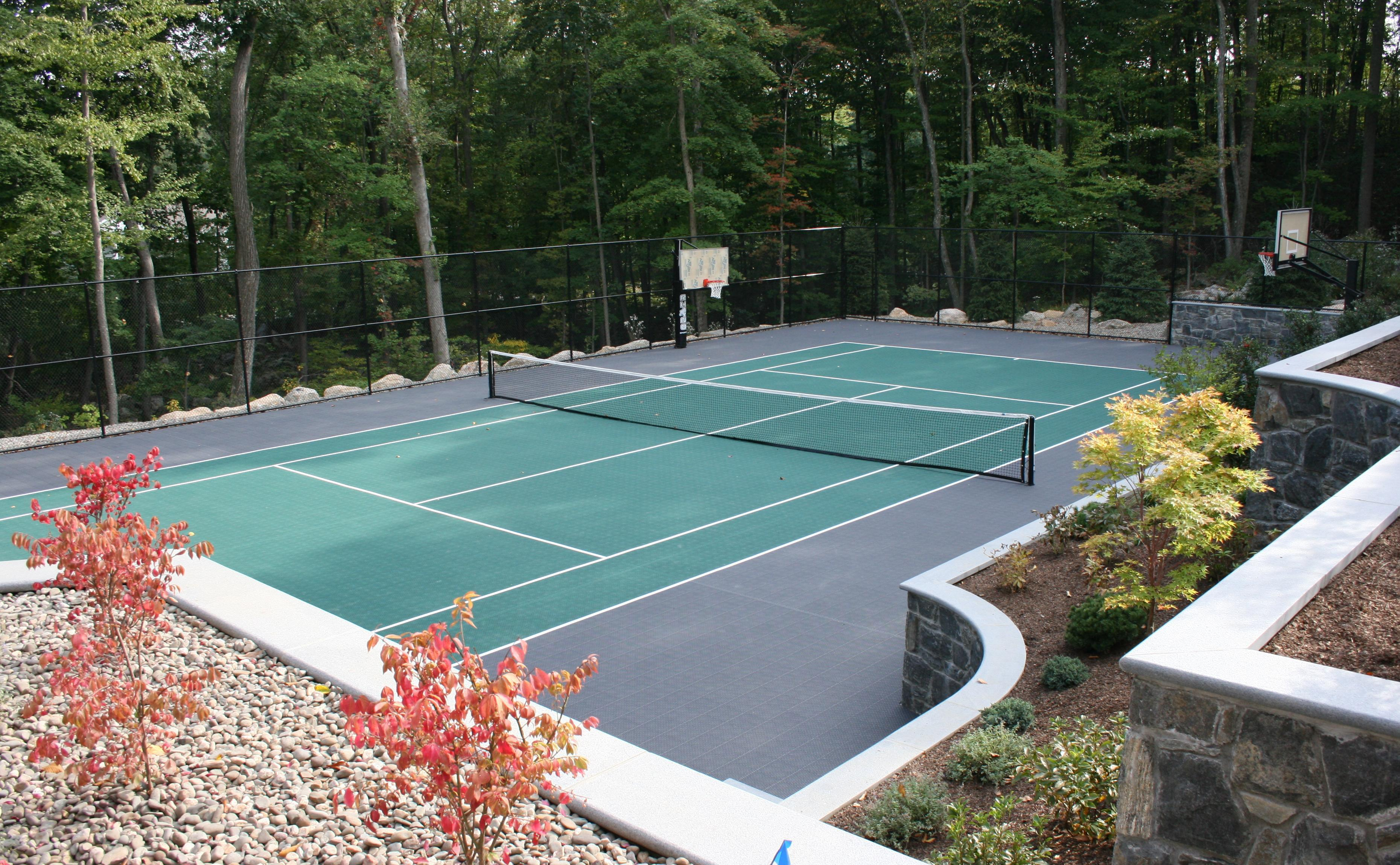 Backyard Tennis Court the advantages of a backyard court | long island tennis magazine