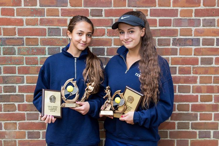 The Hewlett duo of Rachel Arbitman and Nyla Gershfeld will be the top team from Nassau heading to states after winning the county doubles title.