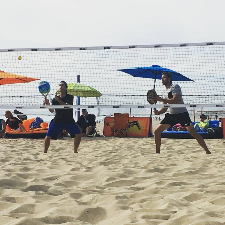 David Sickmen (left) and Matteo Godio (right) will team up once again for the upcoming beach tennis season.