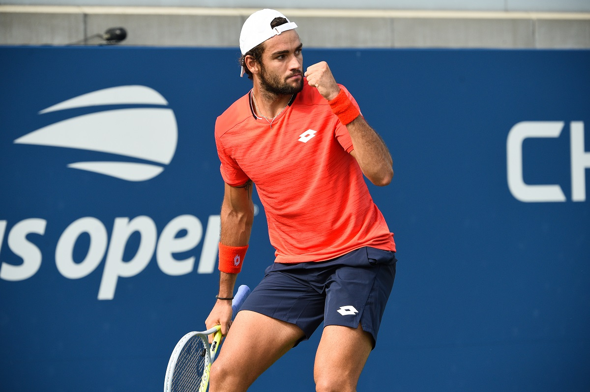 Italy's Matteo Berrettini is into the second major semifinal of his career, and he will meet Hubert Hurkacz for a spot in the finals.