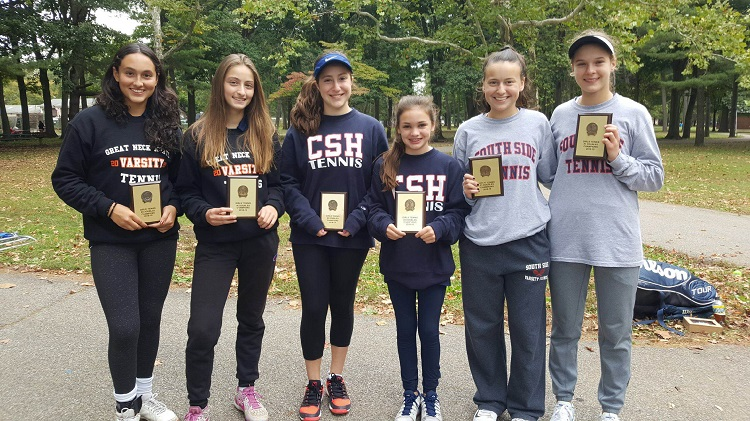 Alyssa Ghassabian and Alina Lyakhov (Great Neck North), Maddy Richmond and Nicolette Loeffler (Cold Spring Harbor) and Julia Gentile and Lauren Zola (South Side) will be representing Nassau County at the NYPHSAA Championships.