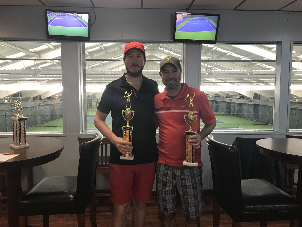 "Brad Shafran and Justin Laible took home the ""A"" Division title at the Susan Alvy Memorial Tournament."