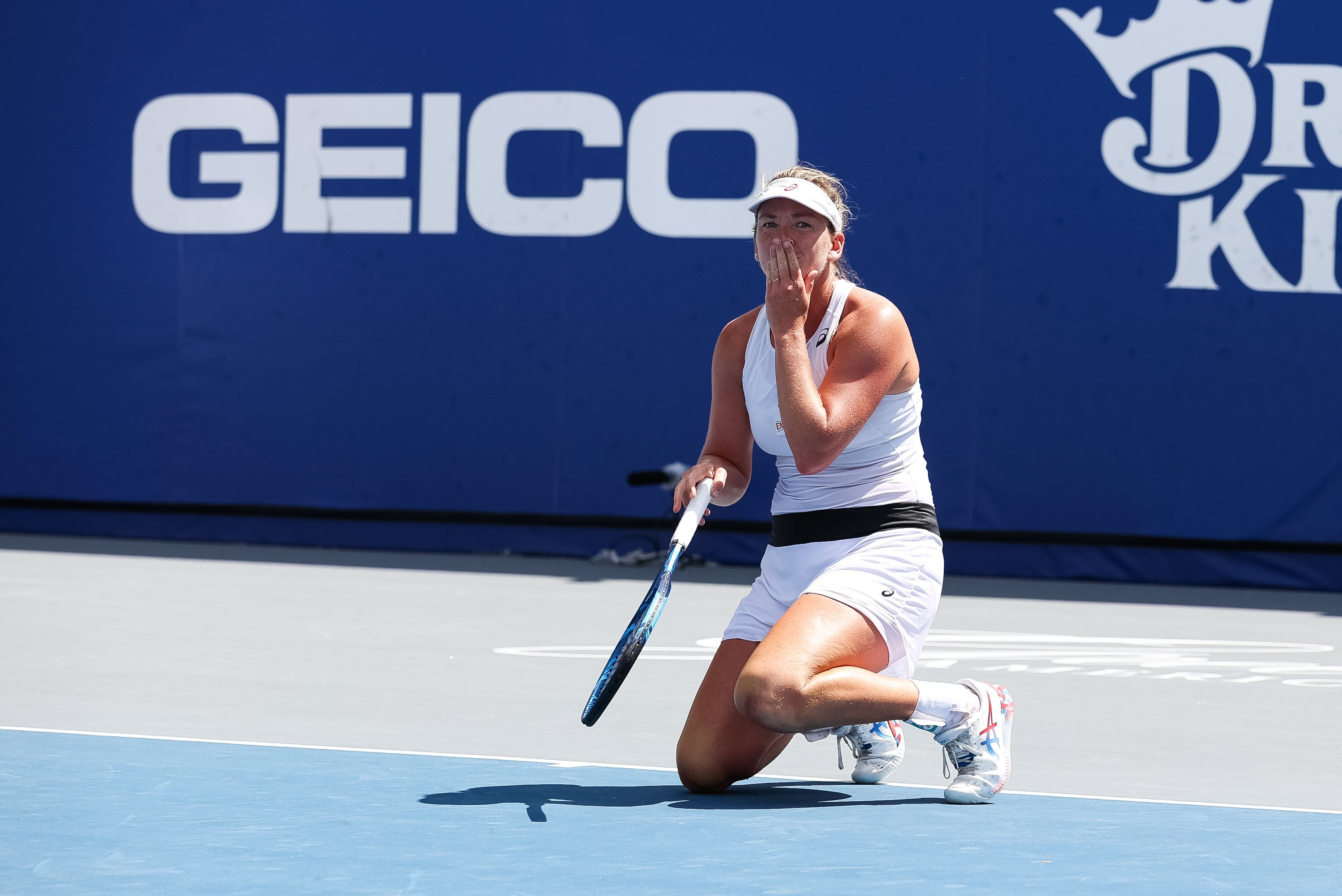 Coco Vandeweghe celebrates after winning the final point in the New York Empire's championship victory.