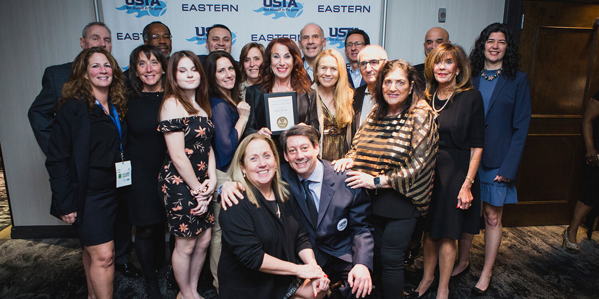 2019 Long Island Region Volunteer of the Year Hilary Bressler (center) with Team Long Island.