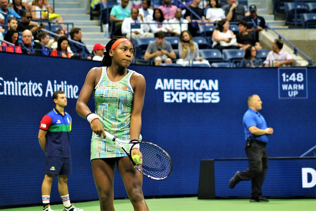 Coco Gauff won her opening round match at the French Open on Tuesday.