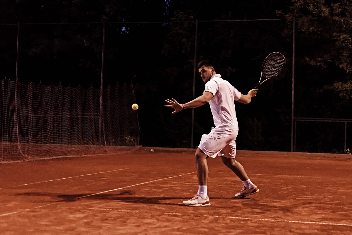 There are so many reasons to hit most of your shots cross-court in a match: early point of contact, the angle, the ball crosses low part of the net, it makes your opponent move more, etc