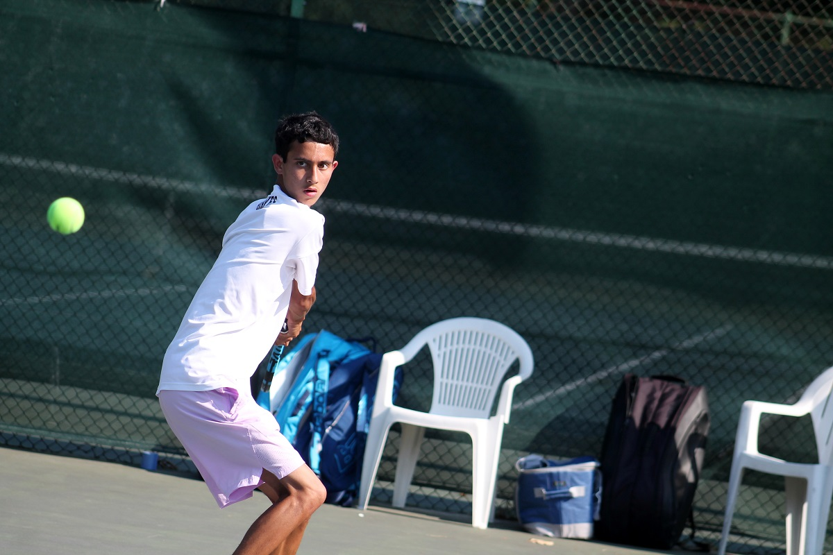 Syosset's Jeremy Levine won at third singles on Monday to help lead the Braves to the county championship.