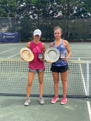Tola Glowacka (right) earned the Silver Ball in the Girls 16s Singles division.