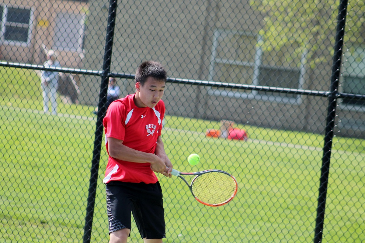 Michael Han won his match at third singles to clinch Hills East's county championship win over Commack on Monday afternoon.