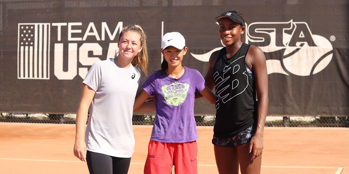 Alex Noel (left), Connie Ma (middle) and Coco Gauff (right) led Team USA to its second straight Junior Fed Cup title.