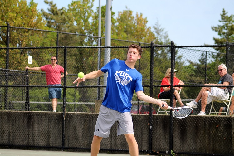 Alexander Karman was a winner at first singles for Port Washington on Wednesday.