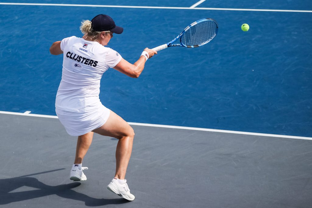 Kim Clijsters scored a big win over Sofia Kenin to help lead the Empire on Wednesday.