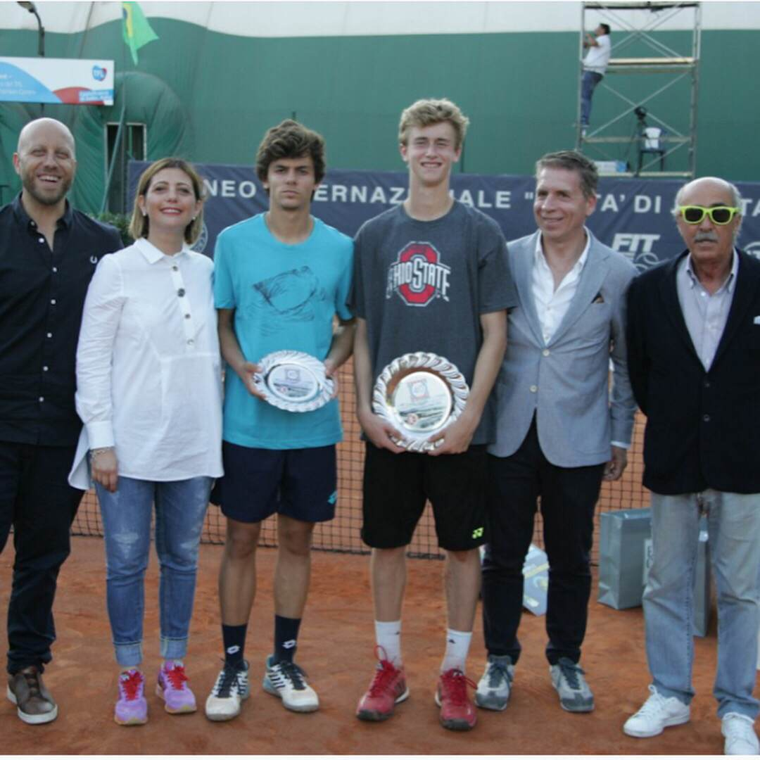 """Kingsley scored one of his biggest wins at the 40th Torneo """"Citta Di Santa Croce"""" in Santa Croce, Italy, winning the Grade 1 title with a 2-6, 6-2, 6-3 comeback win over Turkey's Yanki Erel in the final."""