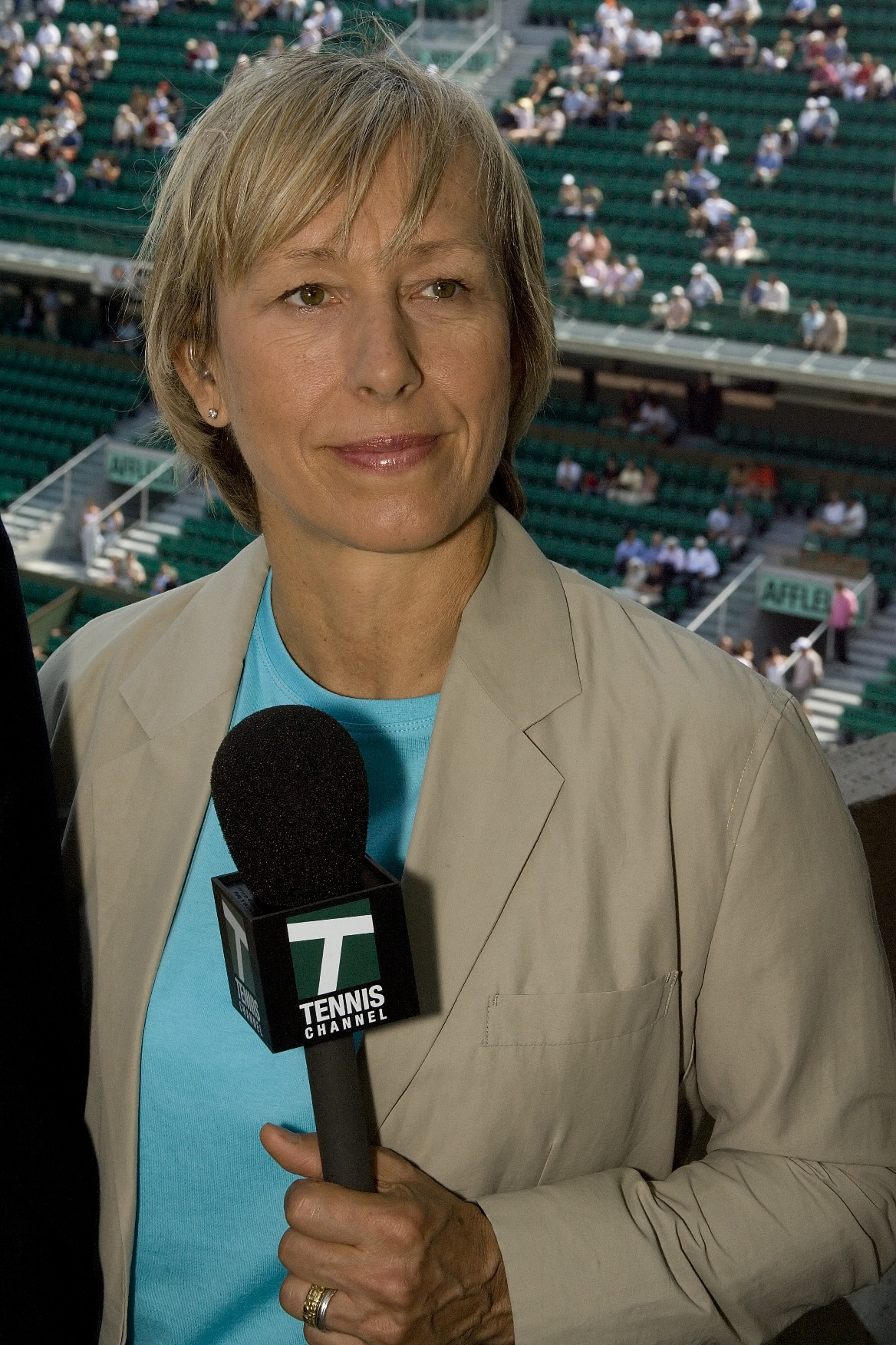 navratilova participates in conference call