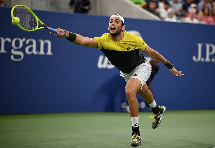 Matteo Berrettini is the first Italian into the US Open semifinals since 1977. (USTA/Mike Lawrence)