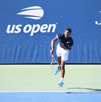 Neel Rajesh competing in the 2018 US Open Junior tournament.
