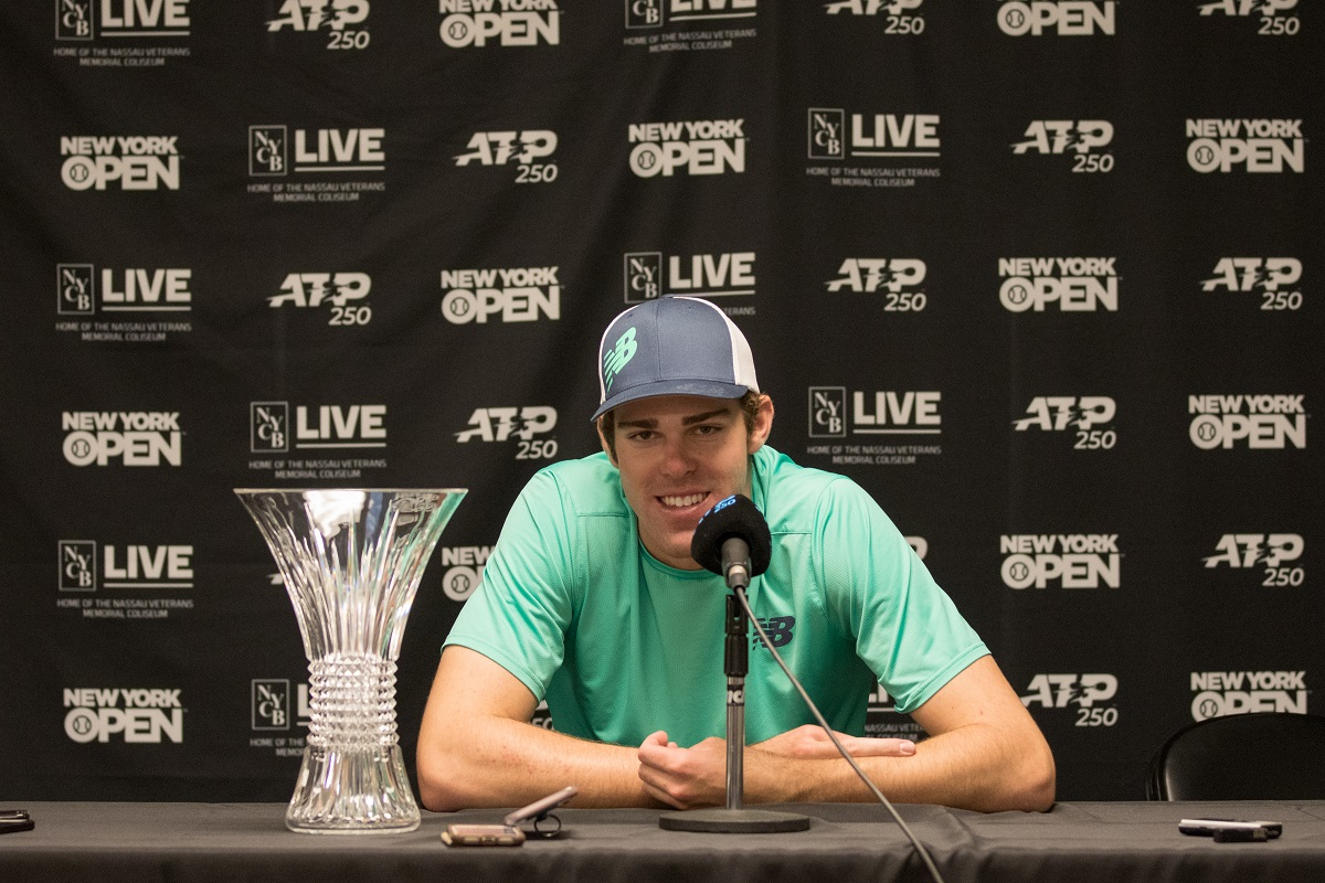 American Reilly Opelka won the first ATP World Tour title of his career by winning the 2019 New York Open earlier this year.