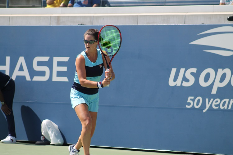 New York native Jamie Loeb competing in the 2018 US Open qualifying tournament.