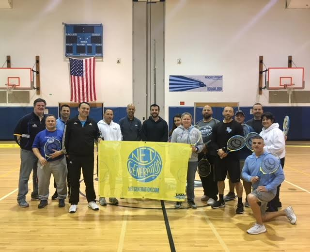 USTA Eastern and USTA Long Island continue with its initiative  of getting tennis into the local schools, with the latest example being at Rocky Point High School in Rocky Point, N.Y.