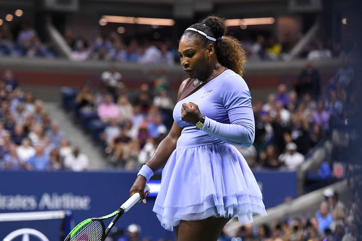 Serena Williams won for the 100th time at the US Open and is now into the semifinals.