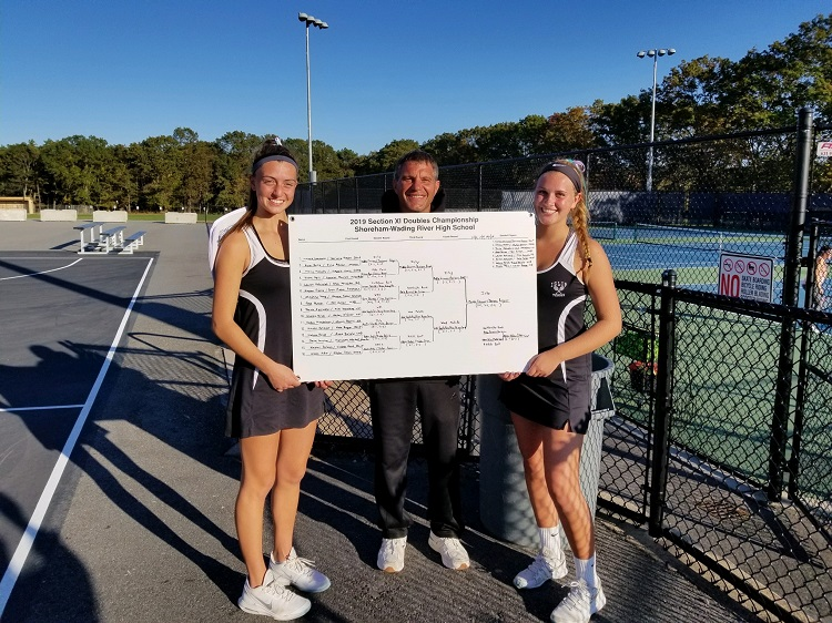Islip seniors Maddie Germano and Darienne Rogers came back from a set down to capture the Suffolk County doubles crown.