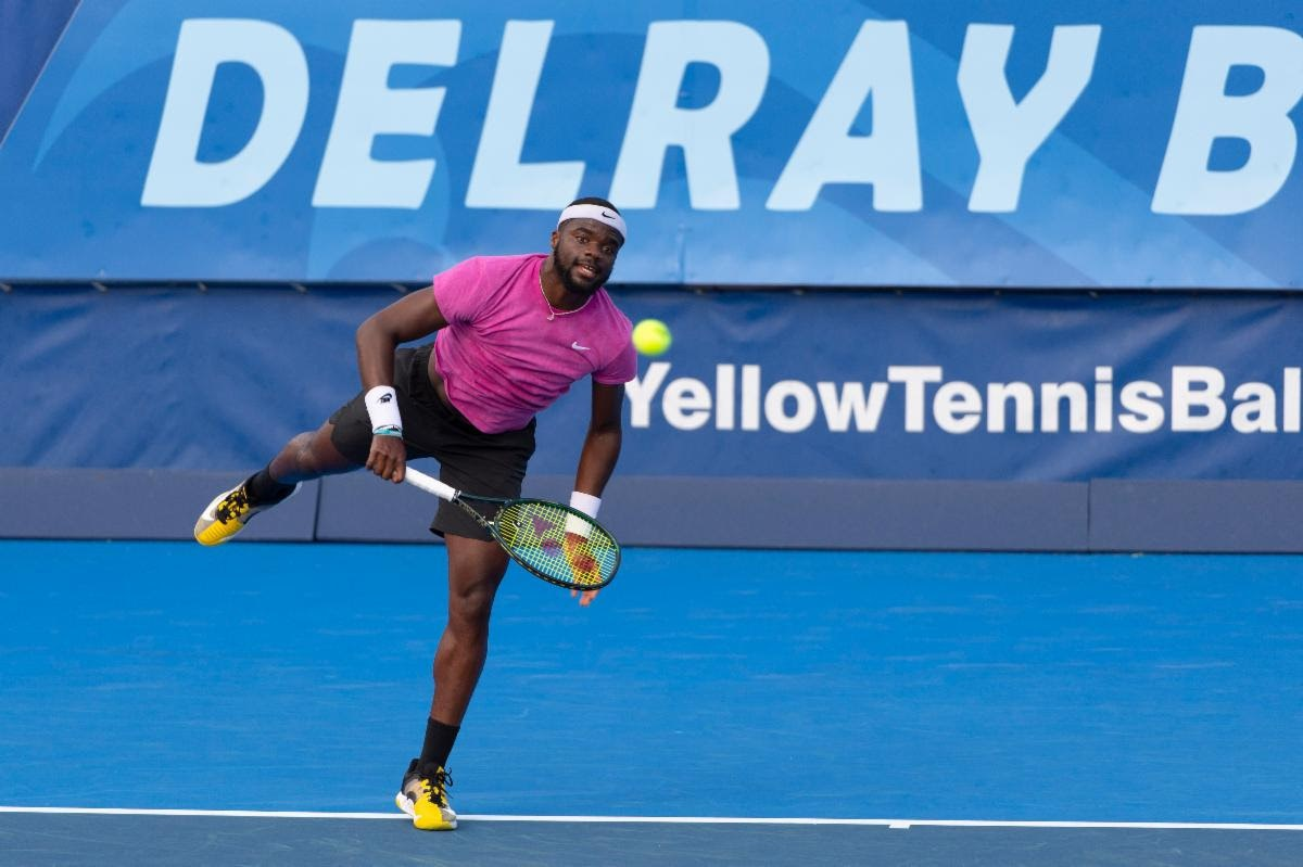 Frances Tiafoe is into the Delray Beach Open quarterfinals after winning on Sunday.