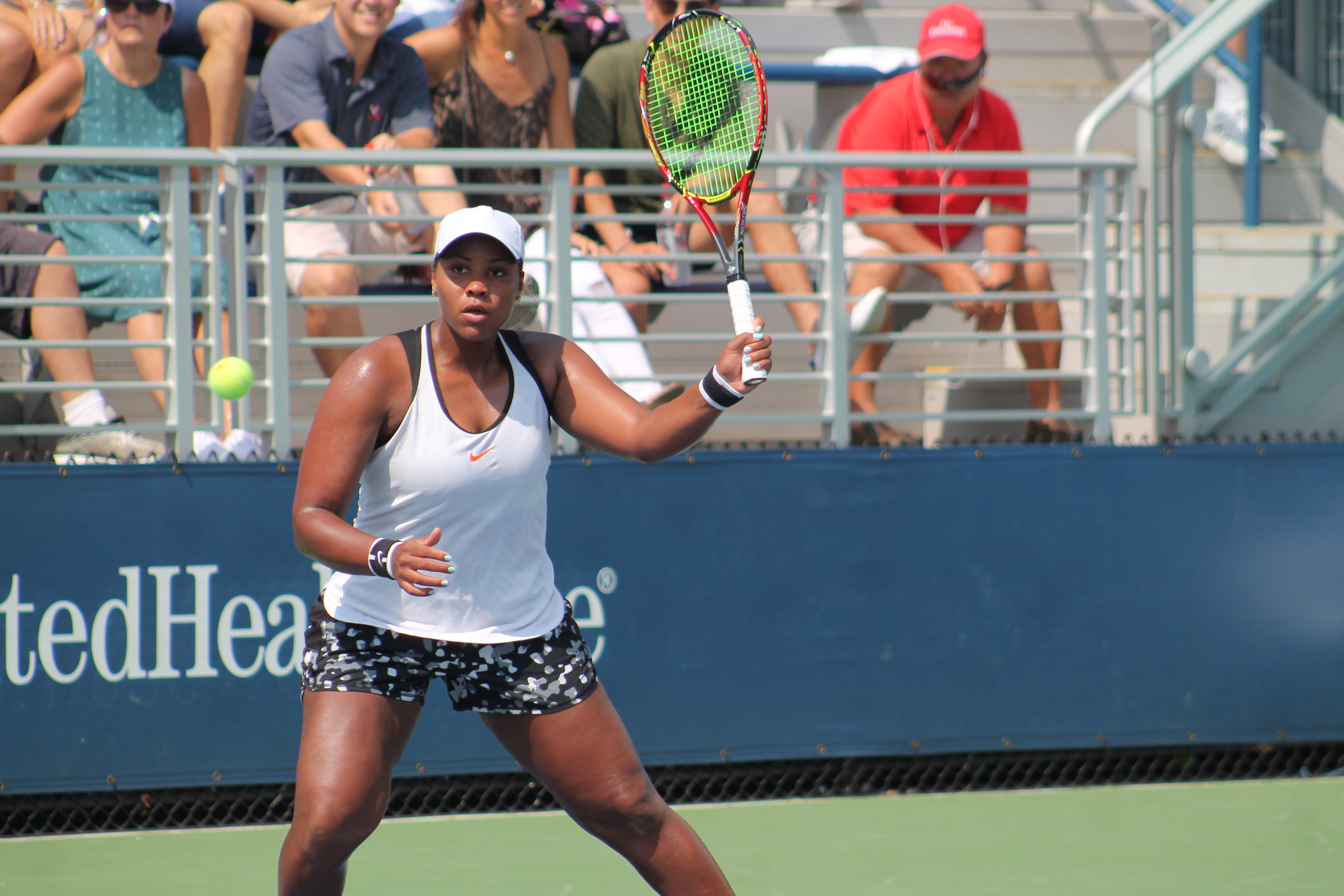 American Taylor Townsend outlasted her compatriot, Amanda Anisimova, 3-6, 6-4, 6-3, in Tuesday afternoon action at the U.S. Open