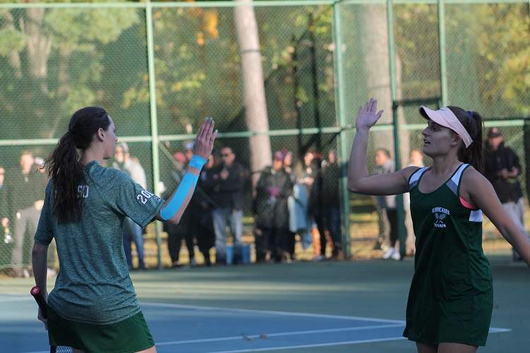 Rose Peruso and Juliet Tomaro were once again the clinching match for Westhampton Beach.