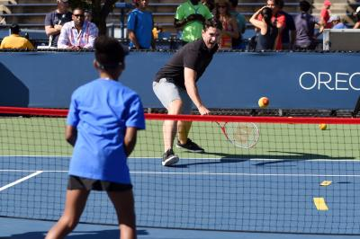 Ryan McDonagh, captain of the New York Rangers and U.S. Olympian, was on hand at the National Tennis Center for USTA Tennis Play Event