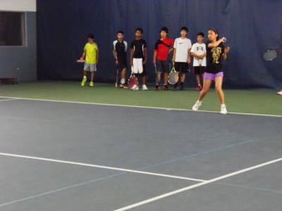 Over 40 junior tennis players showed their skills to tennis scouts and former pros at Sportime Kings Park on June 23rd as they competed for a scholarship to Sportime Kings Park