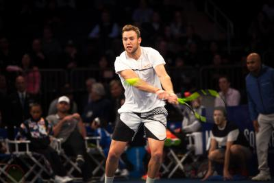 Jack Sock rolled past fellow American Jared Donaldson to reach the Miami Open quarterfinals on Wednesday.