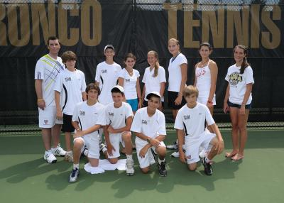 "Coach Gerry Ashley with the ""C"" Monsters during the USTA Boys and Girls 14 North Zone Team Championships, held at Western Michigan University in Kalamazoo, Mich., July 28-Aug. 1"
