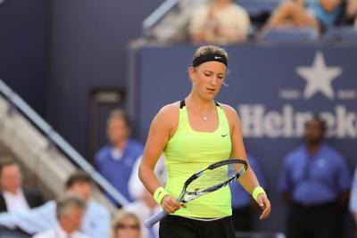 Moving on to the quarterfinals of the 2012 China Open was world number one-ranked Victoria Azarenka, a straight sets winner over Russian qualifier Elena Vesnina, 6-3, 6-3