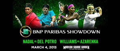 "Before four of the biggest names in tennis take the court at Madison Square Garden, MSG Networks will present ""The World of Tennis: BNP Paribas Showdown Preview"" show on Friday, March 1 at 5:30 p.m. on MSG+ with an encore presentation at 11:30 p.m. on MSG"