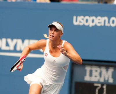 Chinese qualifier Wang Qiang scored a shocking upset of world number 10 Caroline Wozniacki at the 2013 BMW Malaysian Open