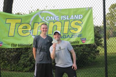 Cory Seltman & Dimitar Pamukchiyan were crowned champs at the Long Island Tennis Challenge in the Men's Pro Divison