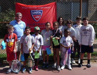 Baldwin Tennis Club was the overall winner of the first DOTS Invitational Tennis Tournament created to introduce new tennis players to tournament play in a non-competitive and fun way