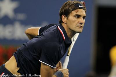 Roger Federer will face Spain's Rafael Nadal in the quarterfinals of the 2013 BNP Paribas Open at the Indian Wells Tennis Garden after Federer defeated his Swiss countryman Stanislas Wawrinka, 6-3, 6-7(4), 7-5 in two hours and 20 minutes