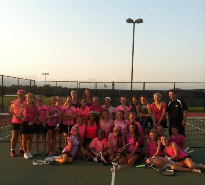 The Suffolk County Girls Coaches Tennis Association held its Second Annual Breast Cancer Awareness Doubles Tournament on Sept. 22