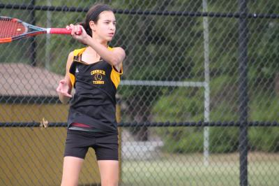 Emily Tannenbaum helped lead Commack past Hills East on Tuesday.