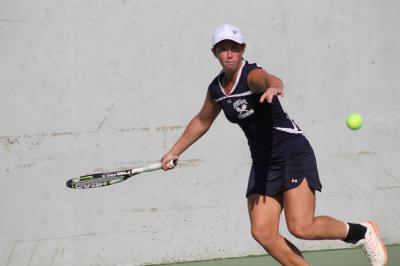 Jackie Bukzin captured the Suffolk County singles title on Monday.