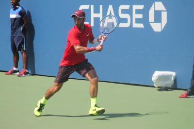 Long Island's Noah Rubin won his opening U.S. Open qualifying match on Tuesday, downing Liang-Chi Huang of Chinese Taipei, 6-2, 7-5, on Court 17 of the USTA Billie Jean King National Tennis Center to advance to the second stage of qualifying for the main draw