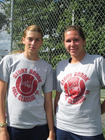 Nini Logvilava faced Stony Brook teammate Catherine Hanson in the finals of the Seawolves Classic, a One-On-One Doubles Tournament, held over the weekend
