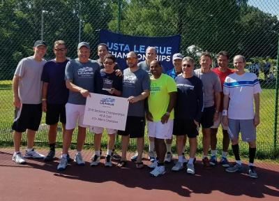 The 40 & Over 4.5 Plus team, captained by Jonathan Klee and Lionel Goldberg, are headed to the 2016 USTA Adult League National Championships