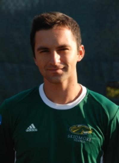 Skidmore graduate Oliver Loutsenko left Skidmore with three All-American years under his belt, as well as being named Liberty Conference Player of the Year