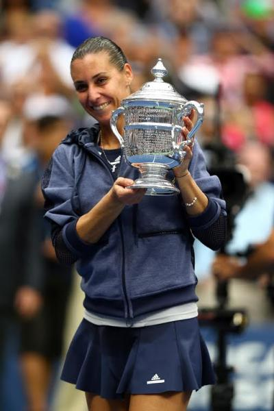 Flavia Pennetta became the oldest player in the Open Era to win her first career Grand Slam
