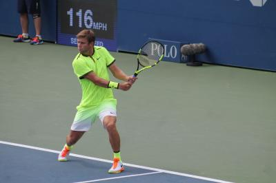 American Ryan Harrison was one of the American men to lose in the BNP Paribas Open first round on Thursday.