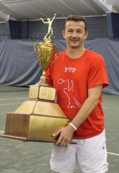 Author Tonny van de Pieterman with the 2011 Talbert Cup