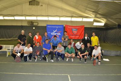 A fundraising Pro-Am for the USPTA was held at Sportime Kings Park Sunday night featuring some of Long Island's top professional and amateur players