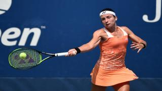Playing in her third consecutive U.S. Open quarterfinal, the 29th seeded Anastasija Sevastova finally broke through to claim her spot in the semifinals, doing so in stunning fashion as she upset third-seed and defending champion Sloane Stephens 6-2, 6-3